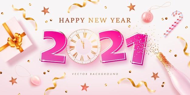 Fondo de año nuevo para vacaciones