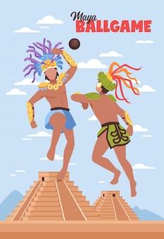 Fondo antiguo de deportes mayas