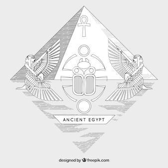 Fondo de antiguo egipto