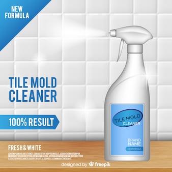 Fondo de anuncio de limpiador de molde de azulejo