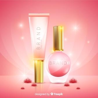 Fondo anuncio realista cosmético natural