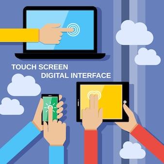 Fondo de aparatos de pantalla táctil