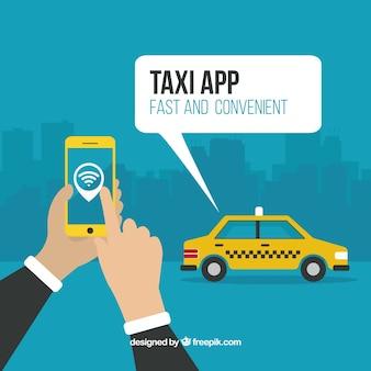 Fondo de aplicación de taxi