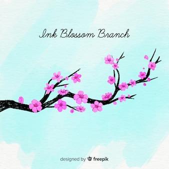 Fondo árbol de cerezo florecido bonito
