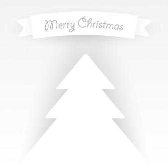Fondo de árbol de navidad blanco