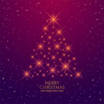 Fondo de árbol de navidad creativo de destellos brillantes