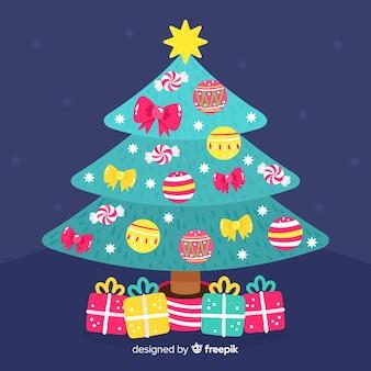Fondo de árbol de navidad de navidad