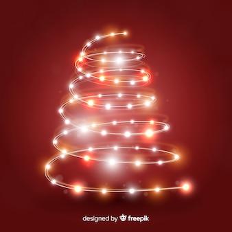 Fondo árbol de navidad realista brillante