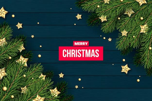 Fondo de árbol de navidad realista