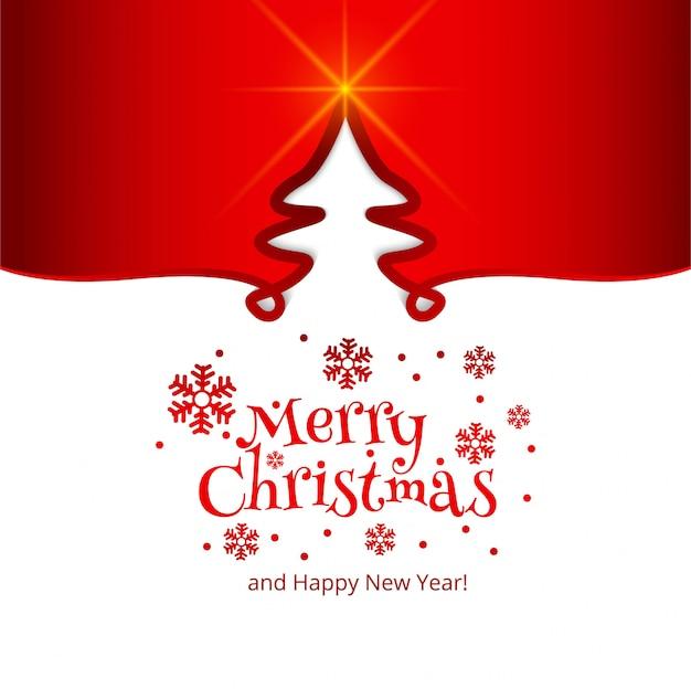 Fondo de árbol de tarjeta de celebración de feliz navidad