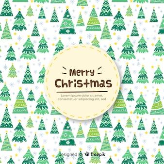Fondo con árboles de navidad