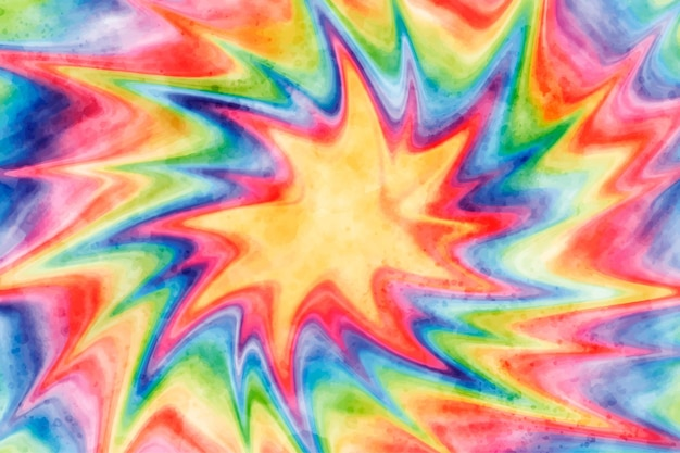 Fondo de arco iris de acuarela tie-dye