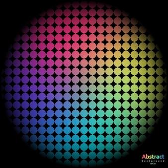 Fondo de arco iris con celda de espectro