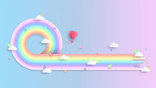 Fondo de arco iris de colores
