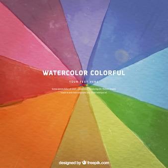 Fondo de arco iris en estilo acuarela