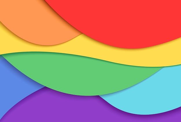 Fondo de arco iris en estilo papel