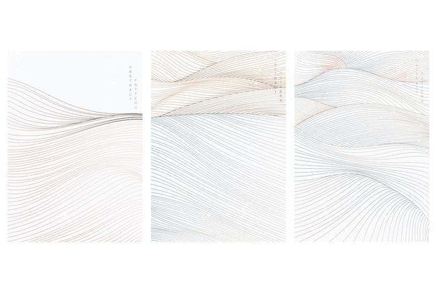 Fondo de arte abstracto con patrón de línea