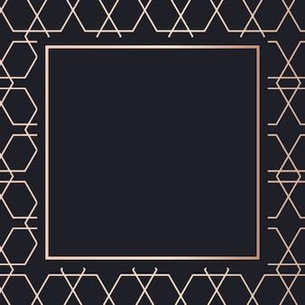 Fondo de arte de patrón de marco dorado