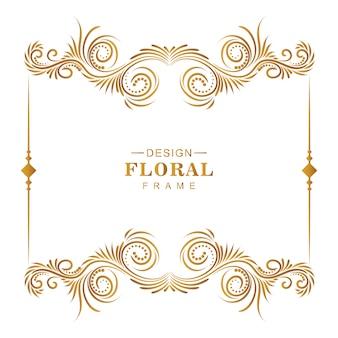 Fondo artístico marco decorativo floral