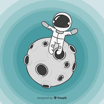 Fondo de astronauta en el espacio