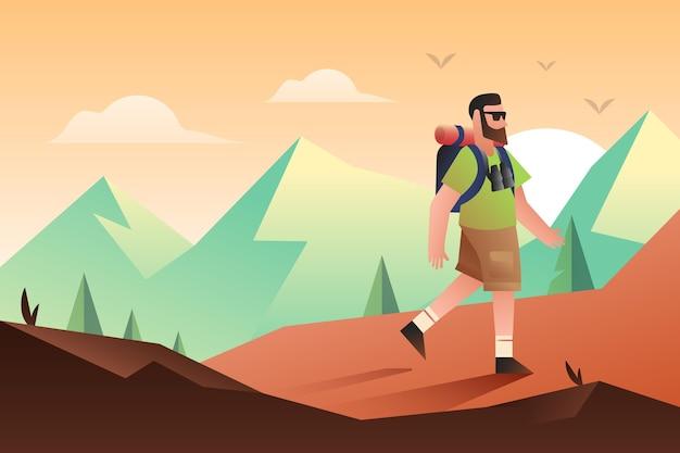 Fondo de aventura plana
