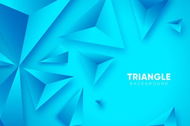 Fondo azul 3d con triángulos