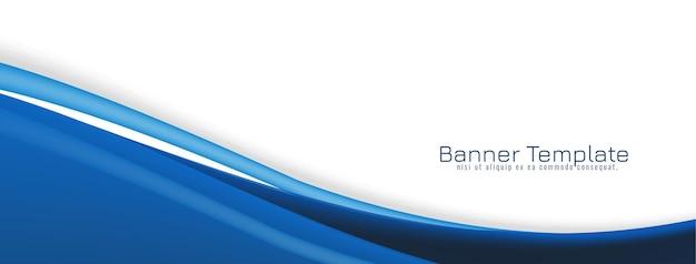 Fondo azul abstracto de la bandera del concepto de la onda azul