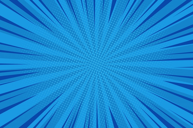 Fondo azul abstracto cómico
