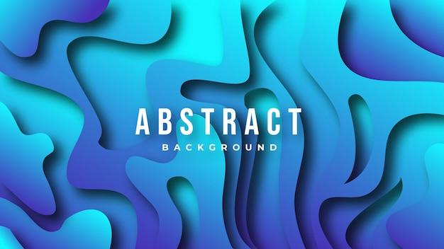 Fondo azul abstracto curvado azul