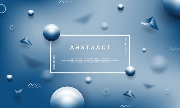 Fondo azul abstracto con formas geométricas