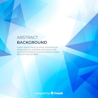 Fondo azul abstracto moderno con formas geométricas