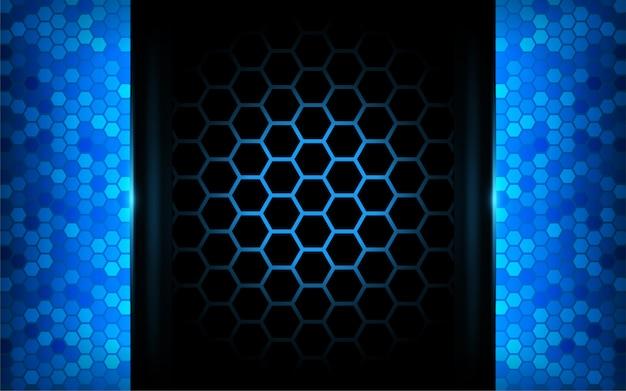 Fondo azul abstracto moderno de la tecnología. diseño futurista de fondo