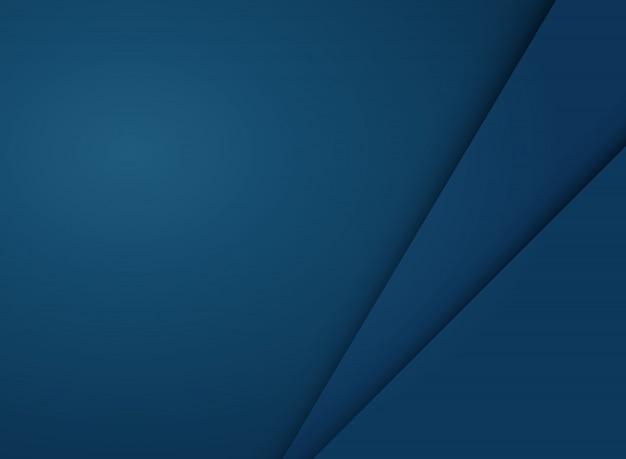 Fondo azul abstracto del papercut de la pendiente con el espacio de la copia.