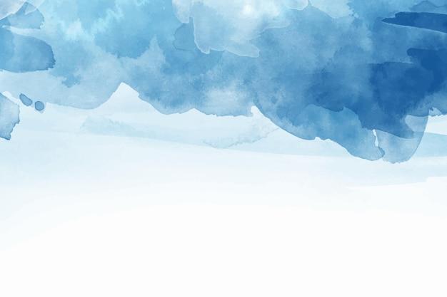 Fondo azul abstracto pintado a mano