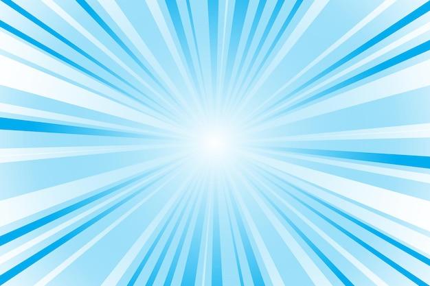 Fondo azul abstracto con rayos de sol. ilustración de vector de verano para diseño