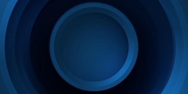 Fondo azul abstracto tecnología de hud.
