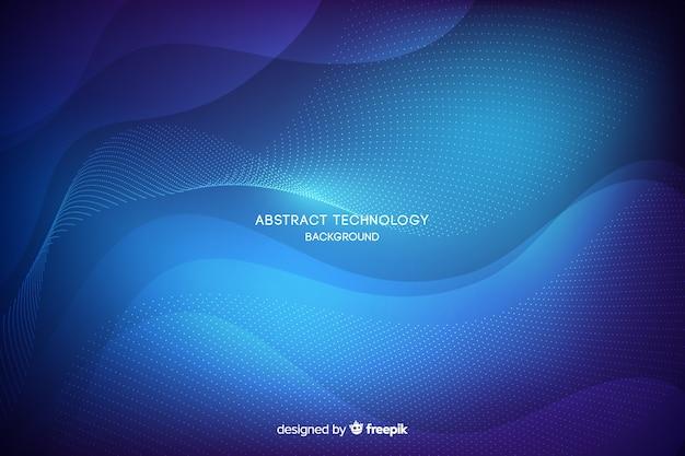 Fondo azul abstracto de tecnología