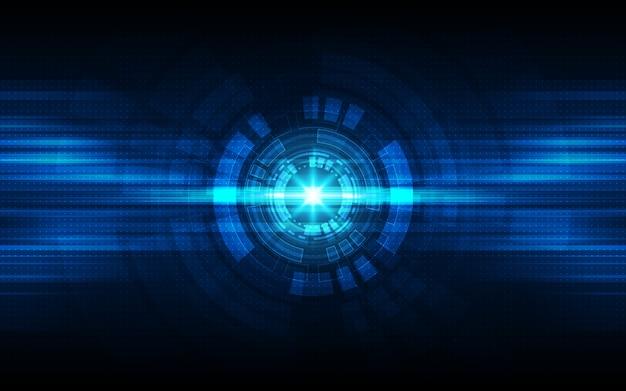 Fondo azul abstracto de la tecnología.