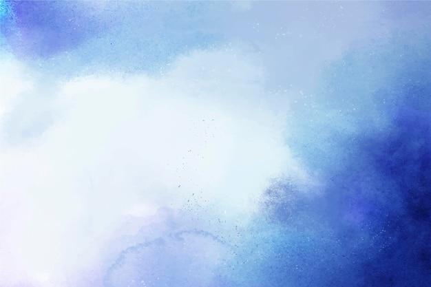 Fondo azul acuarela pintada a mano