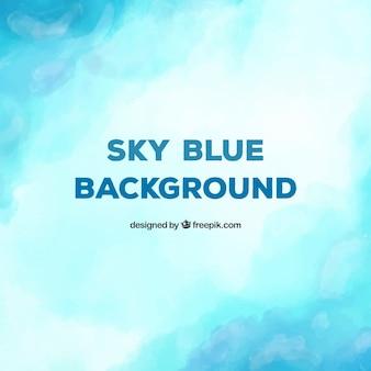 Fondo azul adorable en acuarela