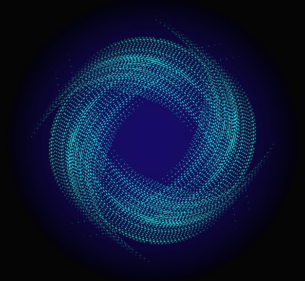 Fondo azul del círculo