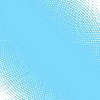 Fondo azul claro con el patrón de semitono circular blanco