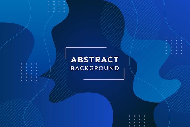 Fondo azul clásico abstracto y efecto memphis