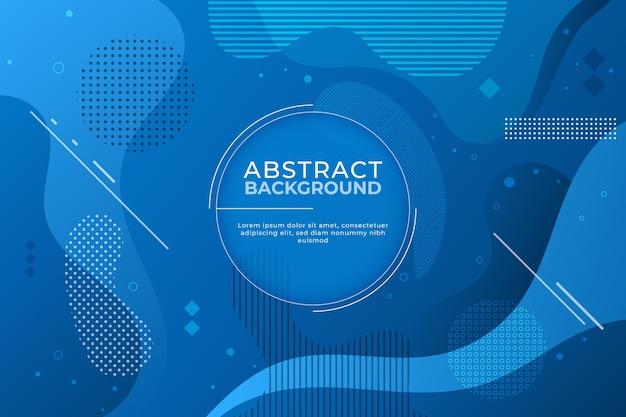 Fondo azul clásico abstracto en estilo memphis