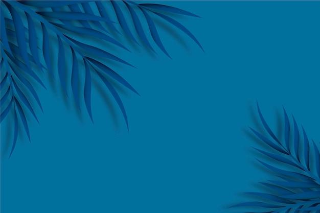 Fondo azul clásico de hojas