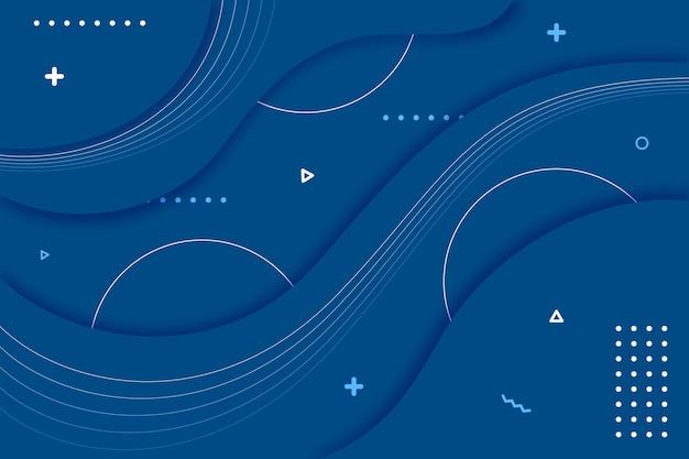 Fondo azul clásico con olas