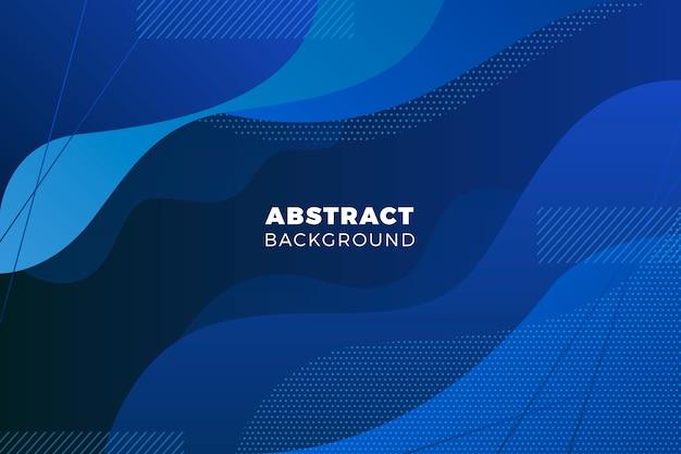 Fondo azul clásico ondulado abstracto