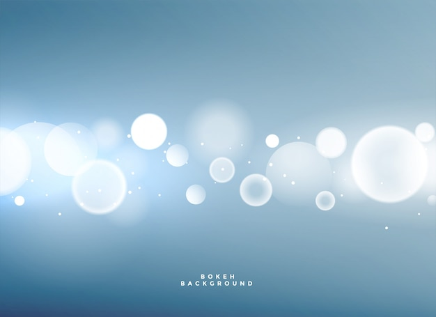 Fondo azul con luces bokeh