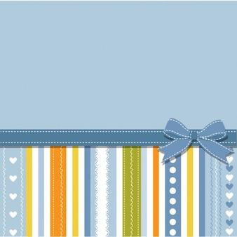 Fondo azul con rayas y lazo