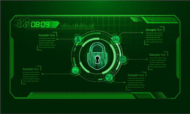 Fondo azul del concepto de tecnología futura del circuito cibernético de hud